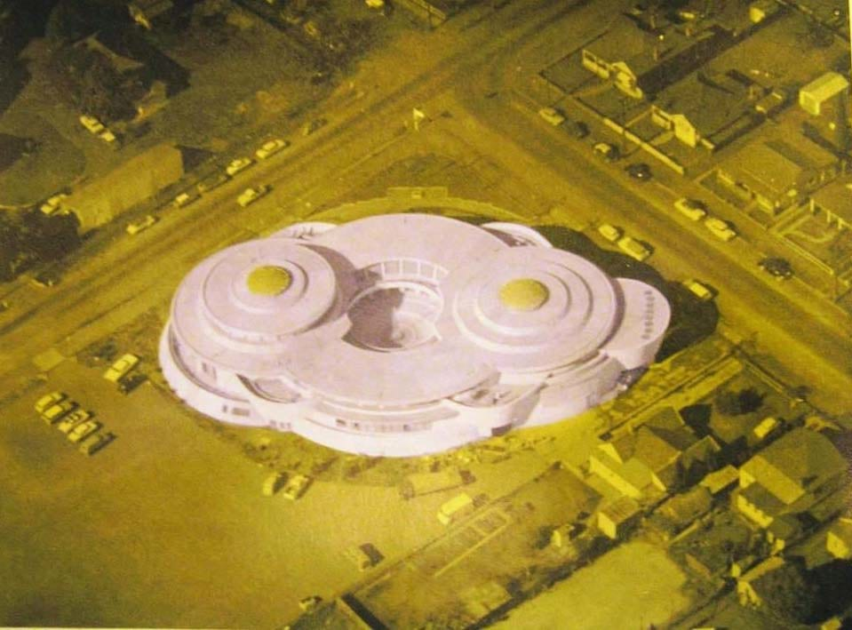 1964 photograph of the model of the building source Granville RSL souveniere brochure