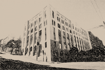 Heritage building in Pyrmont – NSW Australia - previously a warehouse but later converted into apartments