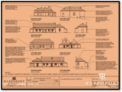 Searchable information sheet pertaining to one of the oldest colonial heritage buildings in Australia Rappoport website