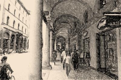 Street Square in Modena Italy